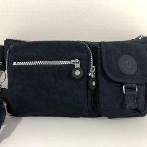 Kipling Fanny Pack/ Waist Bag Navy Blue